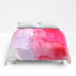 watercolor splash Comforters