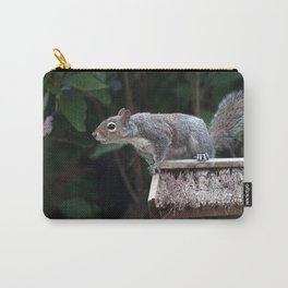 Squirrel and Blossom Carry-All Pouch