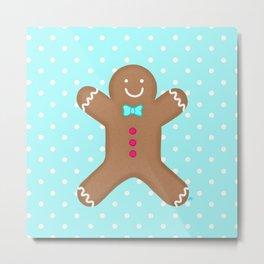 Yummy Gingerbread Man Cookie Metal Print