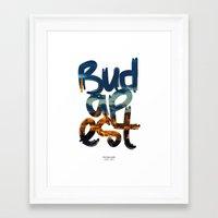budapest Framed Art Prints featuring Budapest by Mapa Barragan