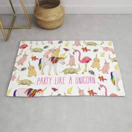 Party Like A Unicorn Rug