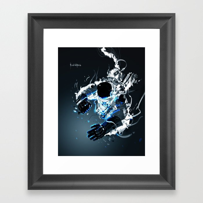 Gravity Vortex Framed Art Print