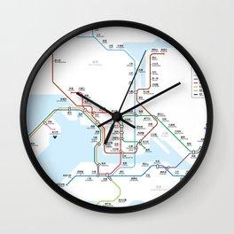 Hong Kong city subway metro map Wall Clock