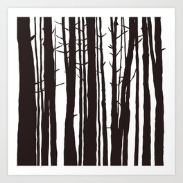 The Trees and The Forest Art Print
