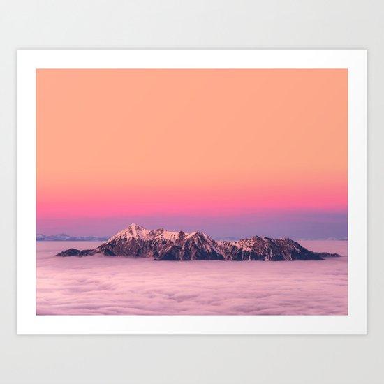 Silence over the Mountains Art Print