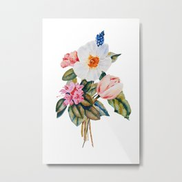 Loose Spring Bouquet Metal Print