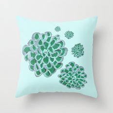 Floral Cluster Throw Pillow