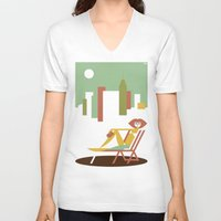 central park V-neck T-shirts featuring Central Park by Szoki