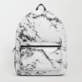 Black and White Marble Pattern // Dripping Cookies and Creme Speckled Stone Backpack