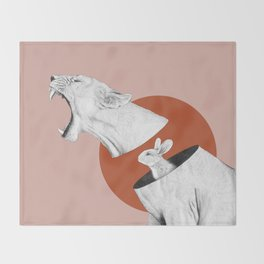 Lioness Bunny Throw Blanket