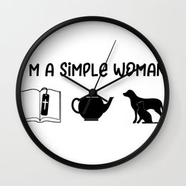 Religious Simple Woman Wall Clock