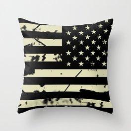 Distressed Tactical U.S. Flag Throw Pillow