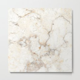 Marble Natural Stone Grey Veining Quartz Metal Print