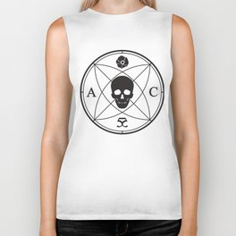 Abbie Cat Designs Skull Logo - Black Biker Tank