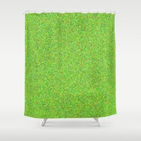lime Shower Curtains featuring lime by ecceGRECO