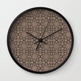 Warm Taupe Geometric Wall Clock
