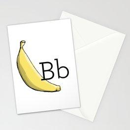 Fruit + Veggie Alphabet: Banana Stationery Cards
