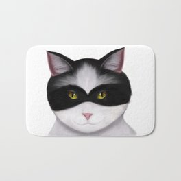 They call me the Masked Cat Bath Mat