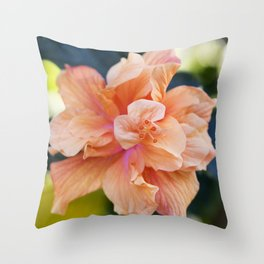 Jane Cowl Tropical Hibiscus Alternate View Throw Pillow