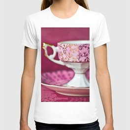 Antique Pink Cup and Saucer T-shirt