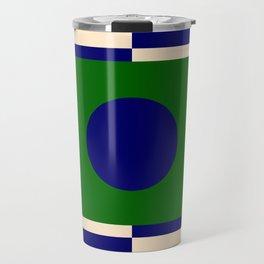 GEOMETRY BLUE&GREEN V Travel Mug