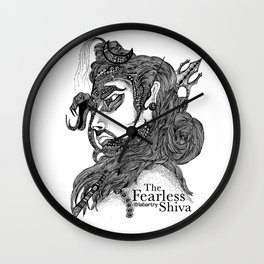 The Fearless Shiva Wall Clock