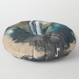 Calm of the Wolf Floor Pillow