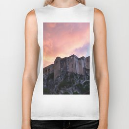 Tropea In Calabria At Sunset Biker Tank