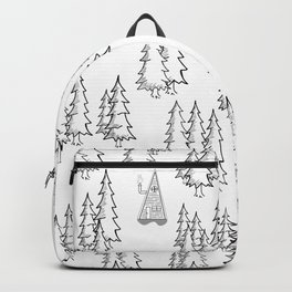 Lost in the wood, a lonely cabin Backpack