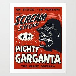 Scream Show Art Print