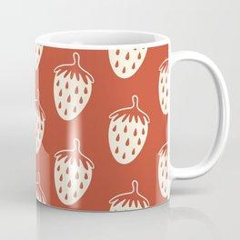 Summer Strawberry Pattern Coffee Mug