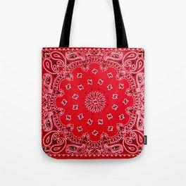 Paisley - Bandana Art - Red - Southwestern Tote Bag