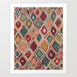 V38 EPIC ANTHROPOLOGIE MOROCCAN CARPET TEXTURE Art Print