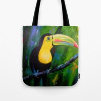toucan Tote Bags featuring Toucan by OLHADARCHUK