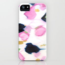 Kenzie - Pink Ikat iPhone Case