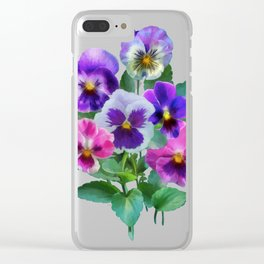 Bouquet of violets I Clear iPhone Case
