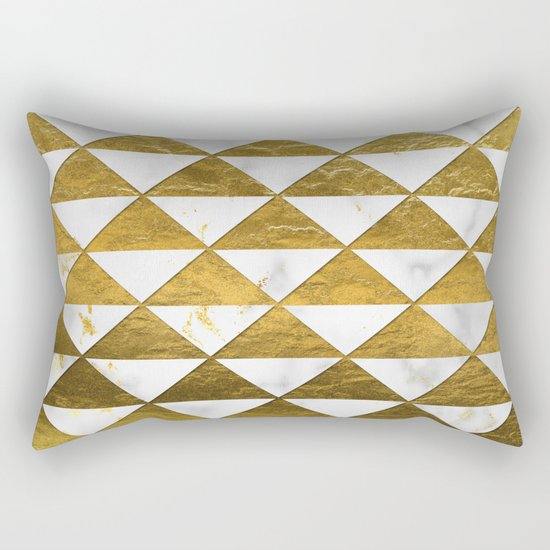 Marble and Gold Pattern #3 Rectangular Pillow
