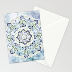 BLUE YERA MANDALA Stationery Cards