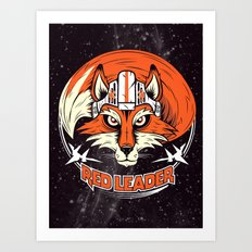 Red Leader Art Print