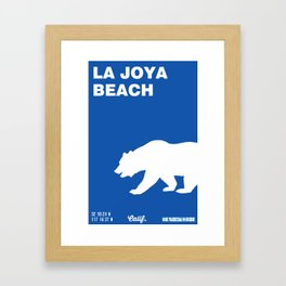 La Joya - California. Framed Art Print