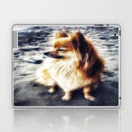 Beach Pomeranian Laptop & iPad Skin