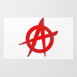 Red Anarchy Symbol Rug
