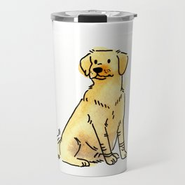 Latte - Dog Watercolour Travel Mug