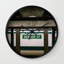 Brooklyn Subway III Wall Clock