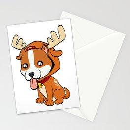 Boxer Christmas Dog T-shirt Design On Xmas Eve or Day Paw Paws Pet Breed Dogs Christmas Tree Stationery Cards