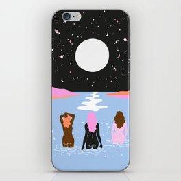 moonlight swim iPhone Skin