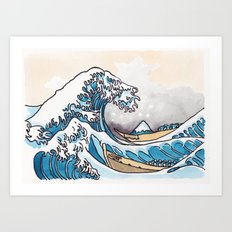 The Shitty Great Wave Art Print