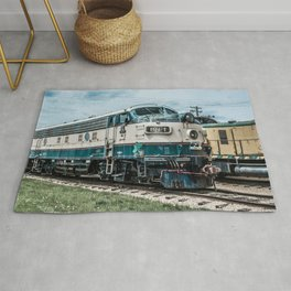 BN-1 EMD Diesel Electro Motive Train Locomotive Vintage Railroad Engine Rug