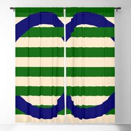 GEOMETRY BLUE&GREEN III Blackout Curtain