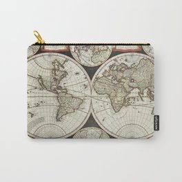 Vintage map of the World 1696 Carry-All Pouch